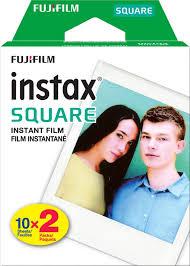 <b>Fujifilm</b> - <b>instax SQUARE</b> Twin Film (20 Sheets) - <b>Black</b> Frame ...