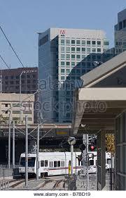 adobe systems inc adbe headquarters san jose california with light rail public transportation in foreground adobe offices san jose san