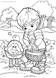 Small Picture Rainbow Brite color page Coloring pages for kids Cartoon
