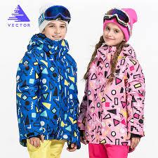 VECTOR Warm Winter <b>Children Ski</b> Jacket <b>Boys Girls Skiing</b> ...