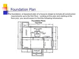 Blue Print Reading Grimsby Secondary School  Foundation Plan The    Foundation Plan The foundation  or basement plan of a house is drawn to include all