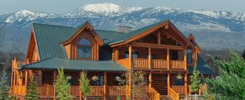Luxury Log Homes  small Log Cabin Home Kits   Log Home Plans Idaho    LODGE LOG AND TIMBER PRODUCTS   Corporate office   S Federal Way  Boise Idaho         or