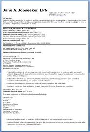 sample lpn resume objective example of an objective in a resume