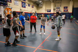 lynn english high school itemlive rebecca alerte dribbles the ball while playing basketball friends at the teen drop in center