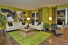 natural green nuance of the beautiful simple home that has wooden floor can be decor with green carpet can add the beauty inside modern living room design beautiful simple living