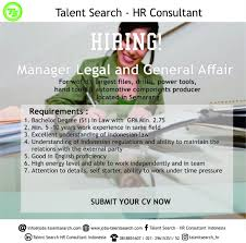 talent search recruitment linkedin hiring legal general affair manager if interested drop us an email your updated cv email nitesh jobs talentsearch com call us 6287784959934