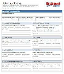 interview rating sheet the interview rating sheet