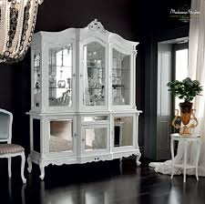 dining room table mirror top: modular glass cabinet with mirror doors classic style