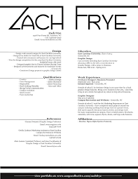 about me resume zach frye designs