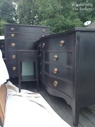 how nanas chest of drawers would look in black diy black chalk finish paint blacks furniture