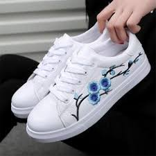 Fashion <b>Women's</b> Straps Sports Running <b>Sneakers</b> Embroidery ...