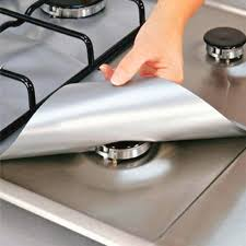 Cooktop a Gas <b>Non Stick Gas Range Protectors</b> Double Thickness ...