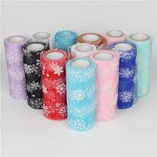<b>15cm 10Y Snowflake Soft Fabric</b> Tulle Roll Tutu Skirt Pom DIY Gift ...