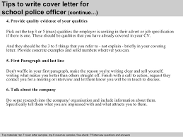 4 tips to write cover letter for school police officer police officer cover letters