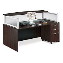 contemporary reception desk with mobile pedestal boc 10642 bow front reception counter office reception desk
