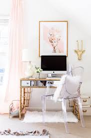 glam office home office bamboo desk blogger office style your senses acrylic office furniture home