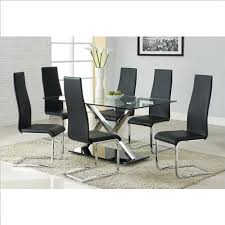 How To Get Coaster <b>Modern</b> Dining <b>7 Piece</b> XY Table Set in ...