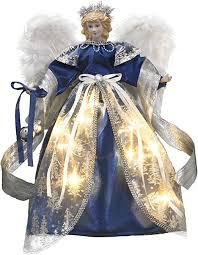 Valery Madelyn 15.8 Inch <b>Royal</b> Blue Cloth <b>Christmas</b> Angel <b>Tree</b> ...