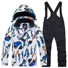 Boy Winter Coat Colorful Printed 2-Pieces Outdoor Ski ... - Amazon.com