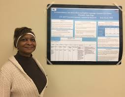 teaching english as a second language programs at utsa pugh giving a poster presentation in dr sayer s second language acquisition research class esl 6013 in fall 2016