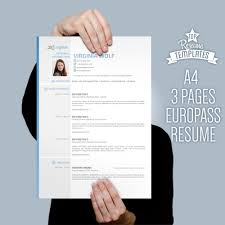 europass cv template european format resume template word items similar to europass curriculum word template official european format modern resume professional cv template 3 pages cv diy instant on