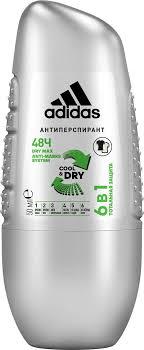 <b>adidas</b> Cool & Dry <b>6 in 1</b> 48ч <b>Дезодорант</b>-<b>антиперспирант</b> ролик ...