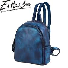 EsMussSein Casual <b>Women</b> Small Solid Backpack <b>Leather</b> Fashion ...