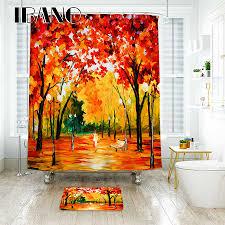 IBANO <b>3D Unicorn</b> Land Shower Curtain Waterproof <b>Polyester</b> ...