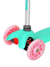 <b>Самокат</b> детский <b>3</b>-<b>х колёсный</b> RUSH ACTION розово-мятный ...