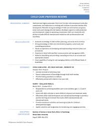 child care resume templates tips and templates child care provider resume