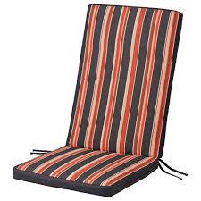 ekern seatback pad outdoor black stripe length 45 5 black patio chair cushions