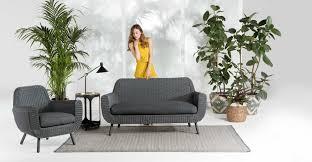 Jonah <b>Garden</b> 2 Seater <b>Sofa</b>, <b>Polyrattan</b> Grey | MADE.com