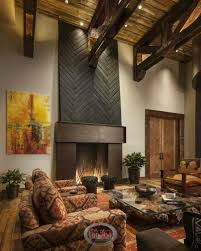 living room design astounding rustic interior soaring ceiling with exposed wood beams cap this rustic living room wi