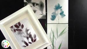 Spray <b>Painting</b> Leaves Silhouette on <b>Canvas</b>-- <b>Wall Art</b> Tutorial ...