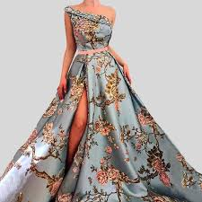 Sleeveless One-Shoulder Embroidery <b>Luxury Formal Evening</b> Dress ...