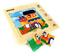 Рамка <b>пазл wooden toys</b> деревенский дом - купить в интернет ...