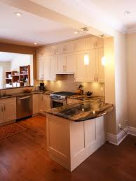 mesmerizing u shaped kitchen design with ceiling lamps and brown floor amazing 20 bright ideas kitchen lighting