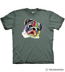 Rainbow Pug - The Mountain Adult Unisex T-Shirt