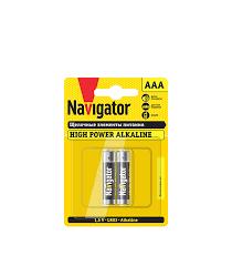 <b>Батарейка</b> Navigator <b>AAA</b> мизинчиковая LR03 1,5 В 650 мАч (2 шт.)