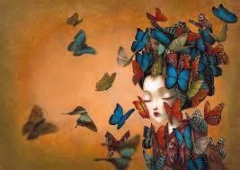 Resultado de imagen para la musa flores y mariposas