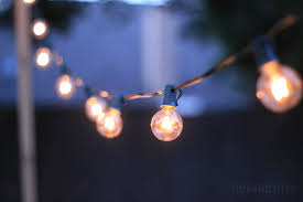bulb string lights outdoor patio