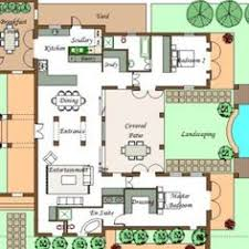 U SHAPED HOUSE PLANS WITH POOL IN THE MIDDLE   COURTYARD    U SHAPED HOUSE PLAN   CAPE ARCHITECT COMPANY