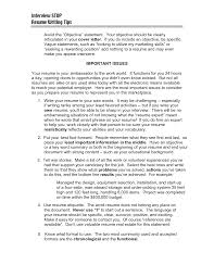 tips for writing resume objective cipanewsletter resume objective and resume