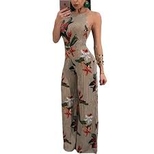 Buy Sherro Women <b>Spaghetti Strap Floral Stripe</b> Print Backless High ...