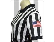 "Smitty Made in <b>USA Womens</b> 1"" Black and White Striped <b>V</b>-<b>Neck</b> ..."