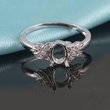 Semi Mount Oval Shape 15x20 MM <b>Ring 925 Silver</b> Wedding ...