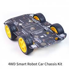 smart car kit 4wd robot chassis kits with speed encoder for arduino diy