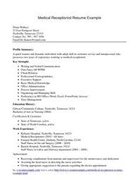 images about resumes on pinterest   administrative assistant    medical receptionist resume cover letter   medical receptionist resume cover letter we provide as reference to