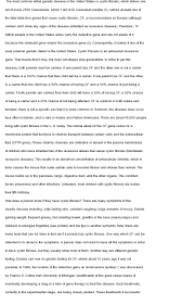 cystic fibrosis essay who can write my thesis for me come browse our large digital warehouse of sample essays view essay cystic fibrosis essay from botany 210 at claflin