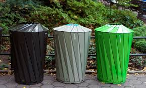 trash cans default: landors design had to simultaneously encourage visitors to recycle and make the collection of trash easier